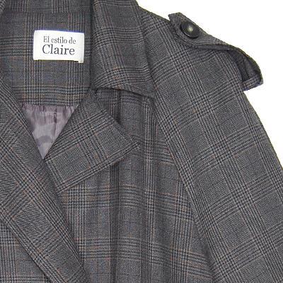ribbon string detail check coat